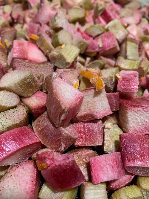 Freeze Dried Candied Rhubarb